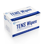 TENS Wipes Alcohol Prep for Pre-Stim Application or After-Use Care: Box of 100