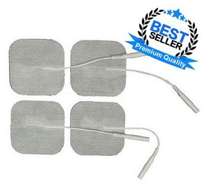 "2"" x 2"" Premium White Cloth Electrodes - 4/pack"