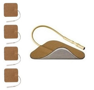 "1.5"" x 1.5"" Ultra Premium Square Tan Cloth Electrodes (TYCO Gel)"