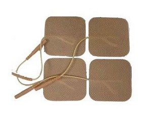 "2"" x 2"" Premium Tan Cloth Electrodes - 4/pack"