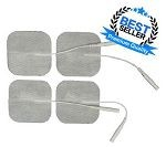 "Electrodes: 2"" x 2"" Premium White Cloth (4/pack)"