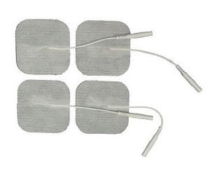 "1.5"" x 1.5"" Premium White Cloth Electrodes - 4/pack"