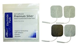 "2"" x 2"" Silver Lined Superior Conductive Premium Electrodes"