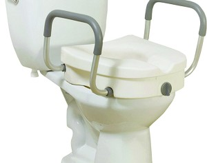 Viverity Locking Raised Toilet Seat With Arms Tenspros Com