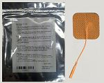 2'' x 2'' Square Tan Cloth Electrodes (TYCO Gel)
