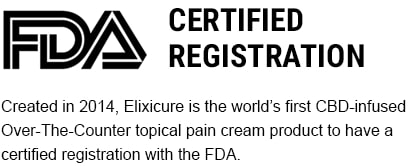 Elixicure CBD Pain Relief Cream | FDA Certified Registration