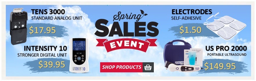 TENSPros   Pain Relief & Rehab Equipment   Spring Specials