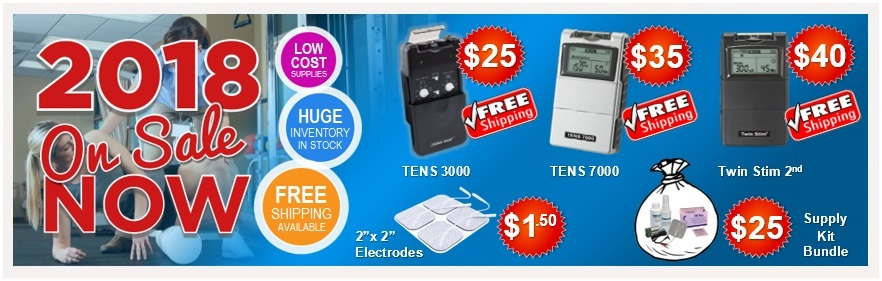 TENS Units and Electrodes - 2018 New Year Sale