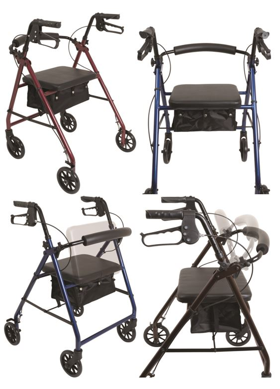 Probasics Standard Rollator With 6 Inch Wheels Tenspros Com