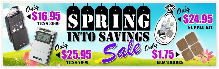 Spring Into Savings Pain Relief Supply Sale 2017