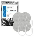 3'' Round White Cloth Electrodes (TYCO Gel)