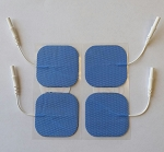 PROTENS 2'' x 2'' Hypo-Allergenic Blue Cloth Electrodes For Sensitive Skin