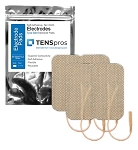 2'' x 3.5'' Rectangle Tan Cloth Electrode (TYCO Gel)