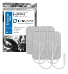 2'' x 3.5'' Rectangle White Cloth Electrodes (TYCO Gel)