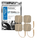 1.5'' x 1.5'' Ultra Premium Square Tan Cloth Electrodes (TYCO Gel)