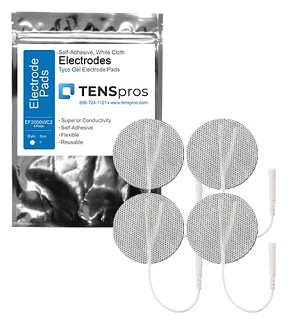2'' Round White Cloth Electrodes (TYCO Gel)