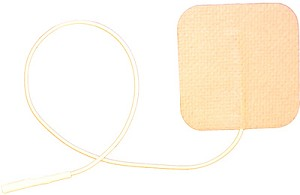 2'' x 2'' Tan Cloth Sterile Post-Op Electrodes - 4/pack
