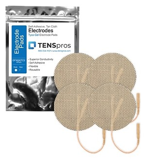 3'' Round Tan Cloth Electrodes (TYCO Gel)