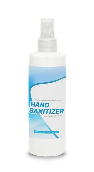 Liquid Hand Sanitizer - 8oz Spray Bottle - 80% Topical Alcohol