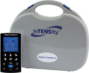 InTENSity Select Combo II - Rechargeable TENS, EMS, IF, & Russian Stim 4-in-1 Combo Unit with 12 Preset Body Icons & Multiple User Settings