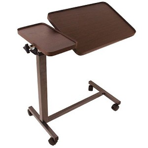 Deluxe Tilt-Top Overbed Table with Multi-Positional Adjustment