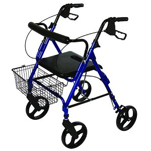 Roscoe Deluxe Rollator with Removable Wheels