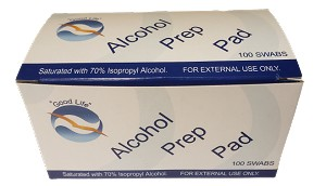 Alcohol Prep Pads for Pre-Stim Application or After-Use Care