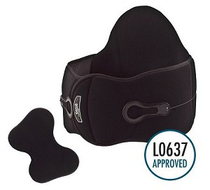 Premium Back Brace with Adjustable Compression & More Lumbar Support + Side Panels (Coded L0637)