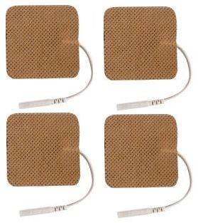 Electrodes: 1.5'' x 1.5'' Premium Tan Cloth (4/pack)
