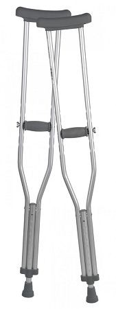 Viverity Aluminum Underarm Crutches - 3 Sizes Available (Junior, Adult, Tall)