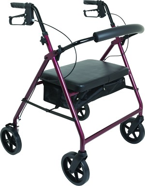 "ProBasics Bariatric Rollator With 8"" Wheels & Padded Seat"