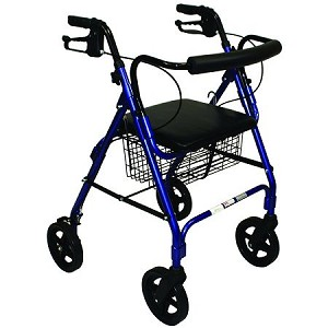Roscoe Deluxe Mobility Rollator with Padded Seat