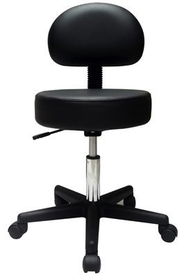 Pneumatic Air Shock Stool With Full Backrest, Premium Comfortable Cushion