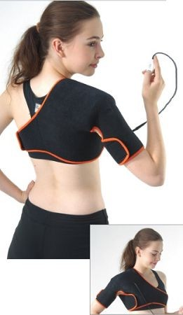 TherMedic 3-in-1 Pro-Wrap Shoulder Brace - Hot and Cold Infrared Therapy + Compression